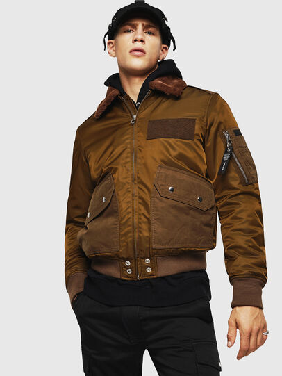 Diesel - W-SLOTKIN-A, Green/Brown - Winter Jackets - Image 1