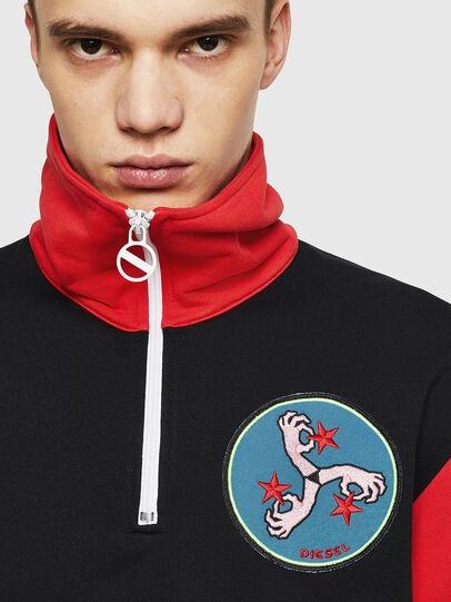 Diesel - S-LEONID, Black/Red - Sweaters - Image 3