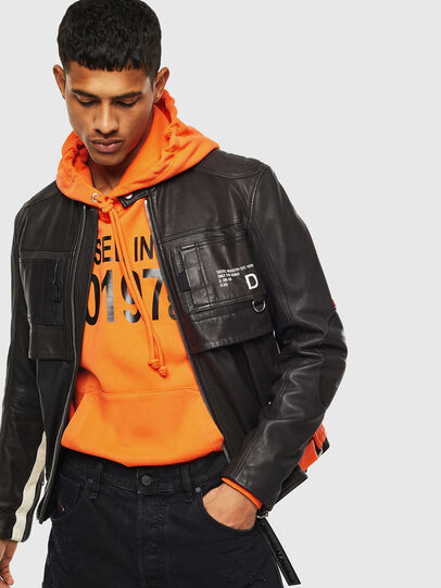Diesel - L-DIXON, Black - Leather jackets - Image 6