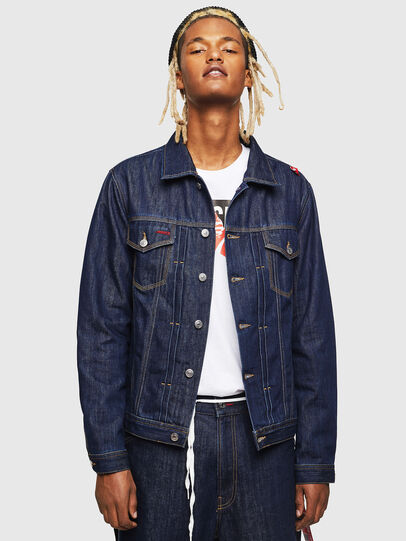 Diesel - CC-NHILL-W, Dark Blue - Denim Jackets - Image 1