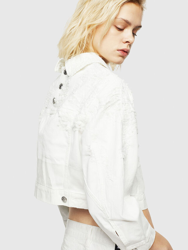 Diesel - DE-CATE, White - Denim Jackets - Image 4