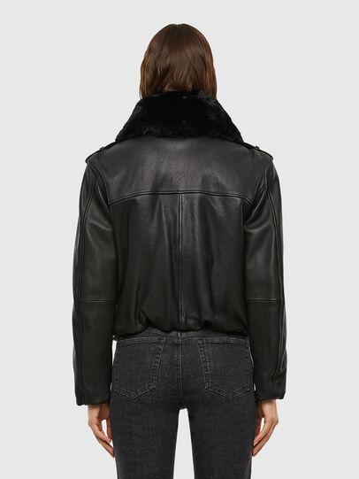 Diesel - L-LIV, Black - Leather jackets - Image 2