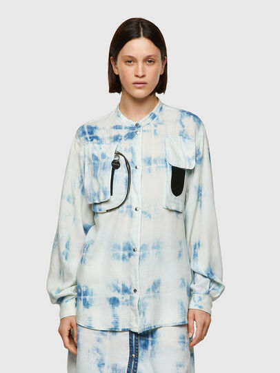 Diesel - C-OVER, Blue/White - Shirts - Image 1