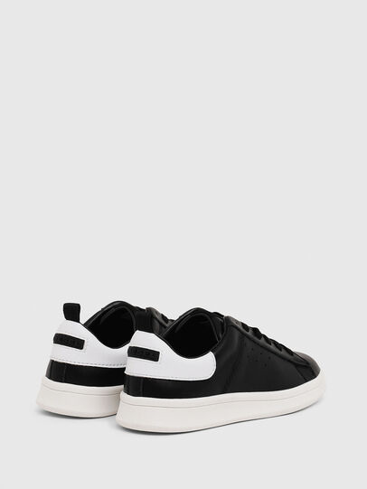 Diesel - SN LOW LACE 11 FULL, Black/White - Footwear - Image 3