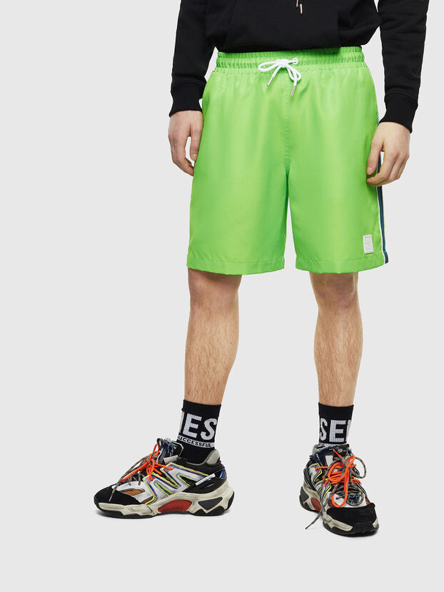P-KEITH, Green Fluo - Shorts