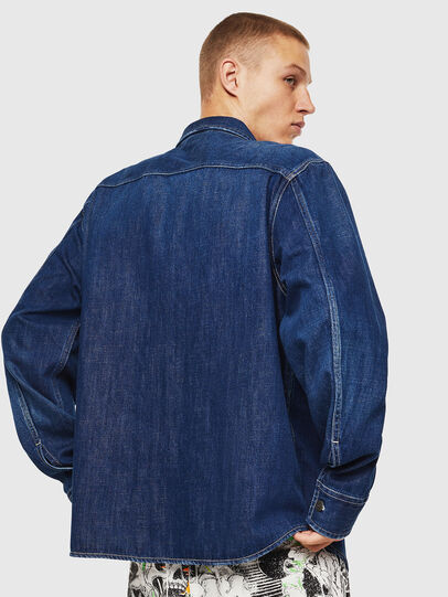 Diesel - D-FLOX, Medium blue - Denim Shirts - Image 2