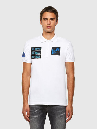Diesel - T-RALF-PATCH, White - Polos - Image 5