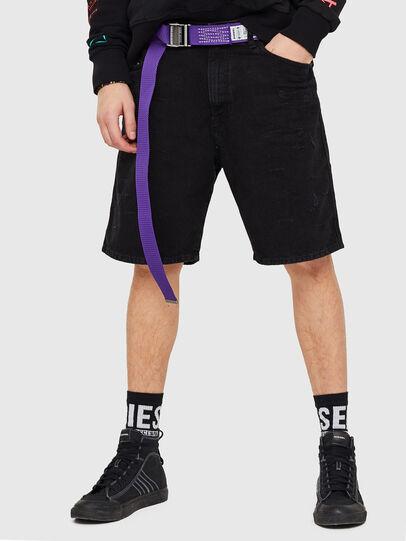 Diesel - D-WILLOH, Black/Dark grey - Shorts - Image 1