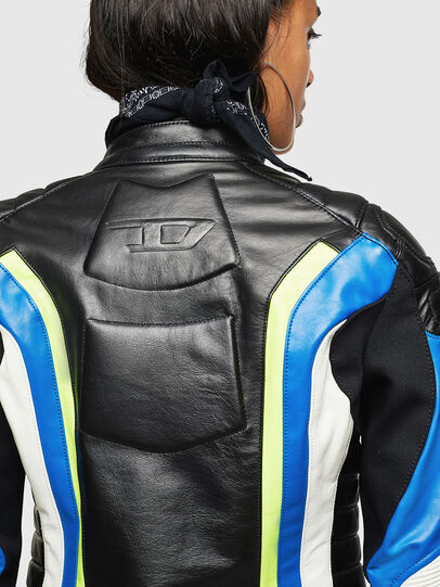 Diesel - ASTARS-LQUATTRO, Black - Leather jackets - Image 8
