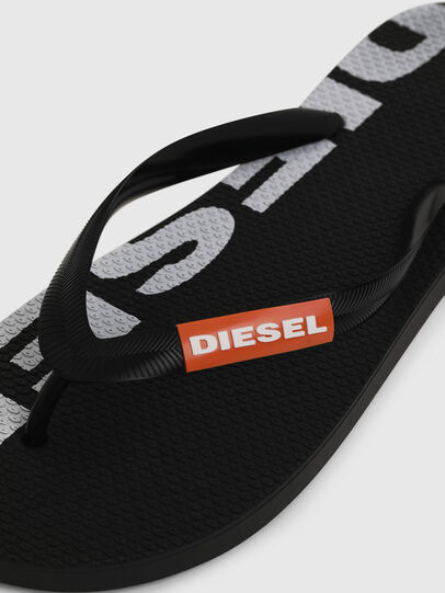 Diesel - SA-BRIIAN, Black/White - Slippers - Image 3