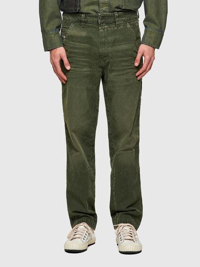 Diesel - D-Azerr JoggJeans® 069WH, Military Green - Jeans - Image 1
