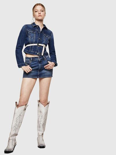Diesel - DE-EISY, Blue Jeans - Skirts - Image 6