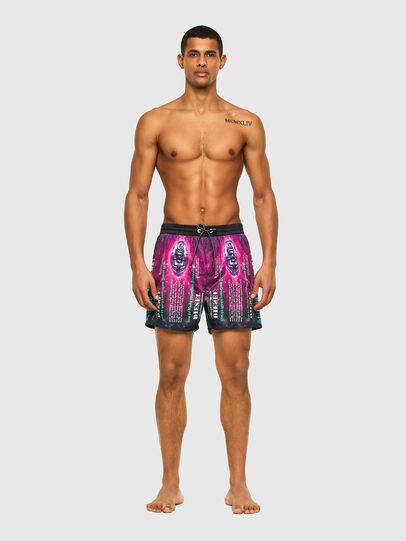 Diesel - BMBX-WAVE 2.017, Black/Violet - Swim shorts - Image 1