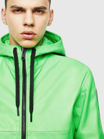Diesel - L-CARRSY, Green Fluo - Leather jackets - Image 3
