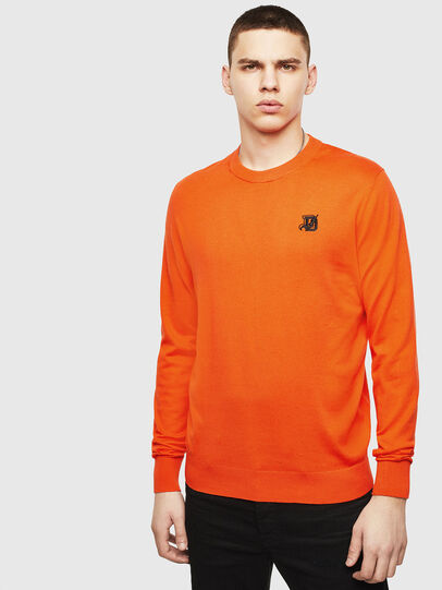 Diesel - K-FREEX, Orange - Knitwear - Image 1
