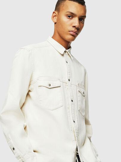 Diesel - D-BANDY-B, White - Denim Shirts - Image 4