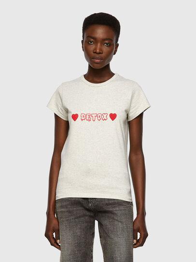 Diesel - T-SLICUP, Light Grey - T-Shirts - Image 1