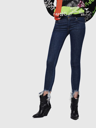 Slandy Low 088AT, Medium blue - Jeans