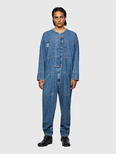 Diesel - DxD-TUTA, Light Blue - Jumpsuits - Image 2