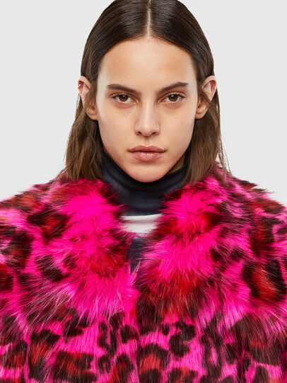Diesel - L-WEEKY-SP, Hot pink - Leather jackets - Image 4