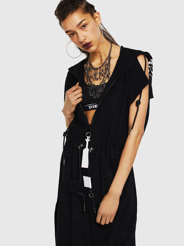 Diesel - D-LUNAI-A, Black - Dresses - Image 3