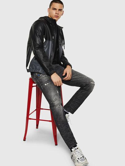 Diesel - L-CARR, Black - Leather jackets - Image 4