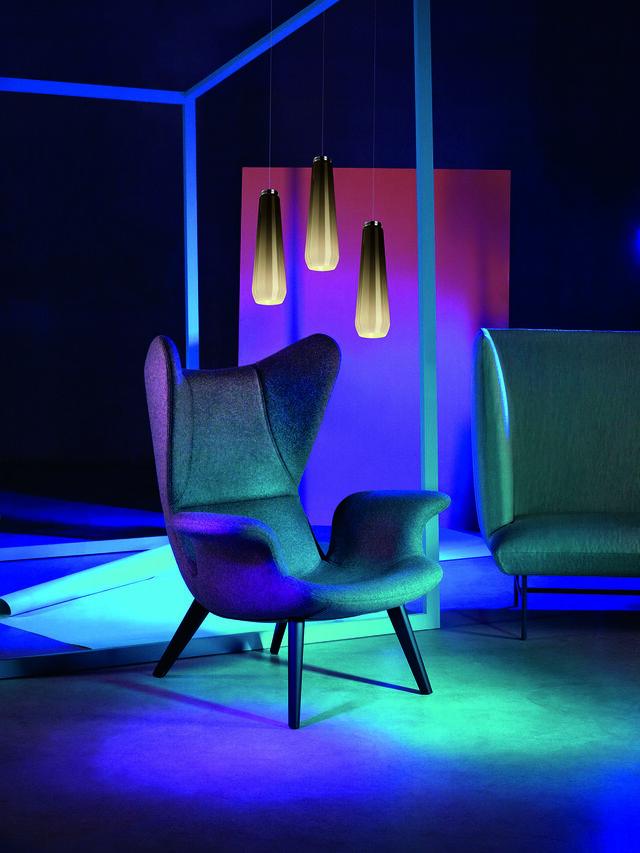 Living GLAS DROP, Grey - Hang Lighting - Image 3