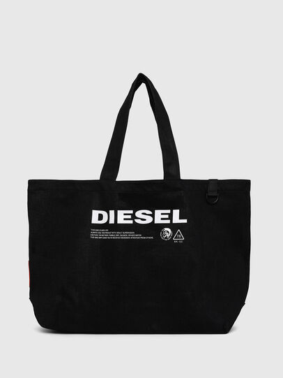 Diesel - D-THISBAG SHOPPER L, Black - Shopping and Shoulder Bags - Image 1