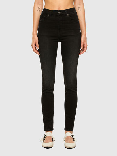 Diesel - D-Roisin High 069MZ, Black/Dark grey - Jeans - Image 1