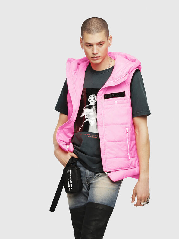 W-SUN-REV-SLESS, Pink Fluo - Winter Jackets