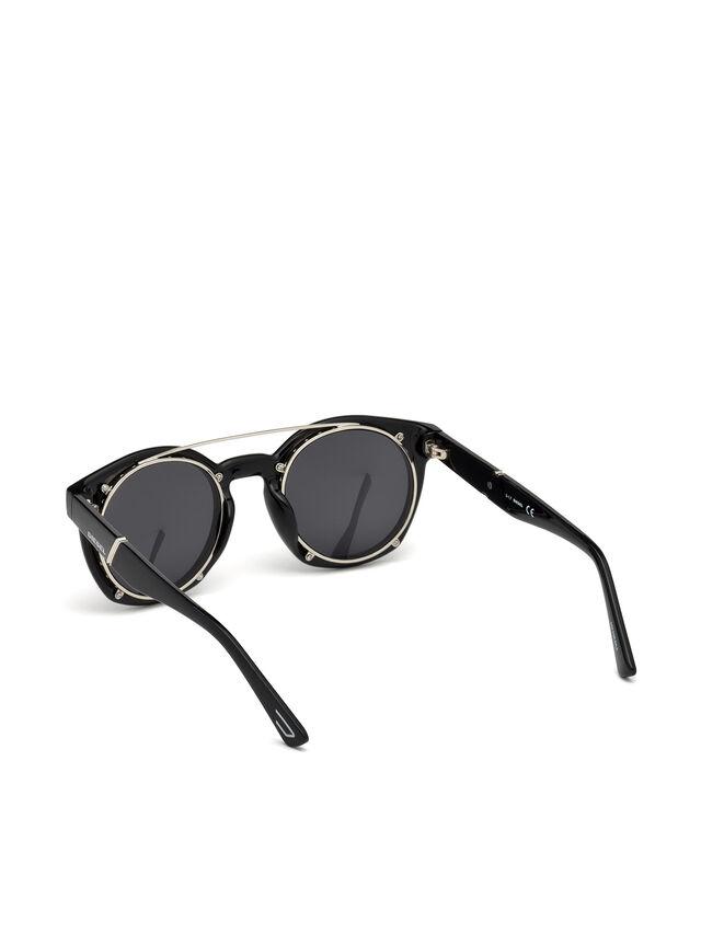 Diesel - DL0251, Bright Black - Sunglasses - Image 2