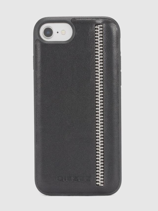 Diesel - ZIP BLACK LEATHER IPHONE 8/7/6s/6 CASE, Black - Cases - Image 2