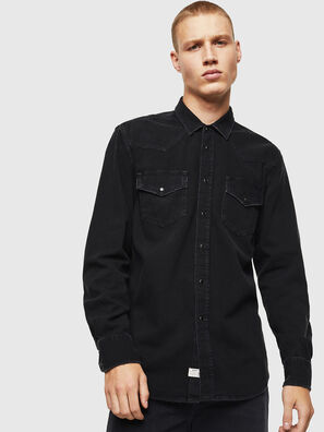 D-EAST-P, Black - Denim Shirts