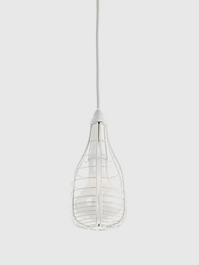 Diesel - CAGE SOSPENSIONE MIC, White - Hang Lighting - Image 1