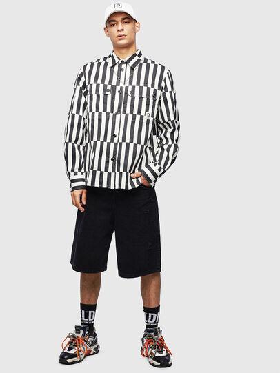 Diesel - S-JESSY-B, White/Black - Shirts - Image 7