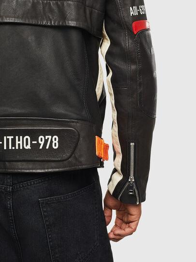 Diesel - L-DIXON, Black - Leather jackets - Image 5