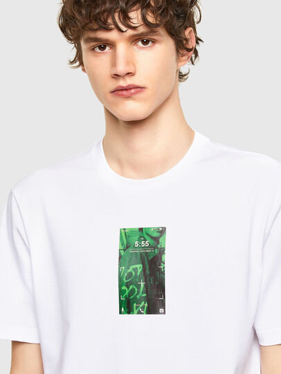 Diesel - T-JUST-E11, White - T-Shirts - Image 3