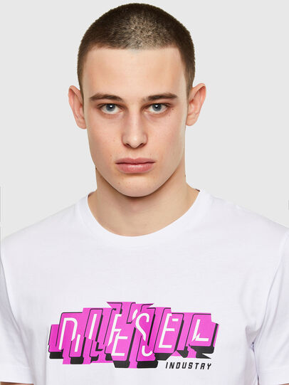 Diesel - T-DIEGOS-E32, White - T-Shirts - Image 3