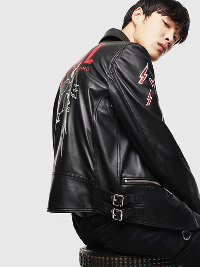 Diesel - CL-L-GOTIV-LITM, Black - Leather jackets - Image 6