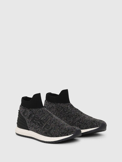 Diesel - SLIP ON 03 LOW SOCK, Black - Footwear - Image 2