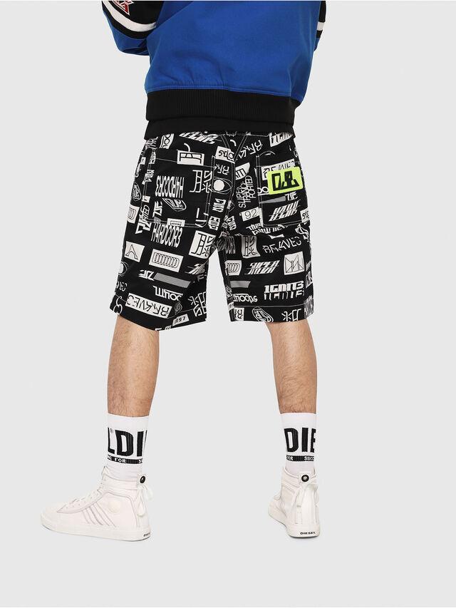 Diesel - P-FRANK-DNM-SHORT-P, Black/White - Shorts - Image 2