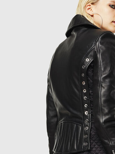 Diesel - L-CARAMA, Black - Leather jackets - Image 6