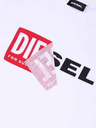 Diesel - TDIEGO, White/Red - T-shirts and Tops - Image 3