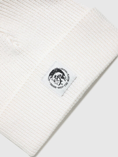 Diesel - K-CODER-F, White - Knit caps - Image 3