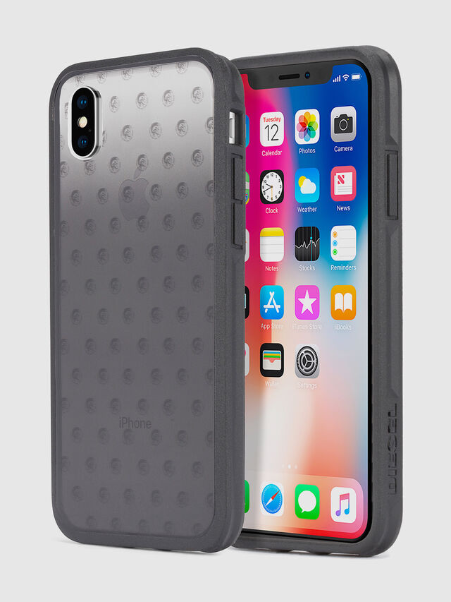 Diesel - MOHICAN HEAD DOTS BLACK IPHONE X CASE, Black/Grey - Cases - Image 1