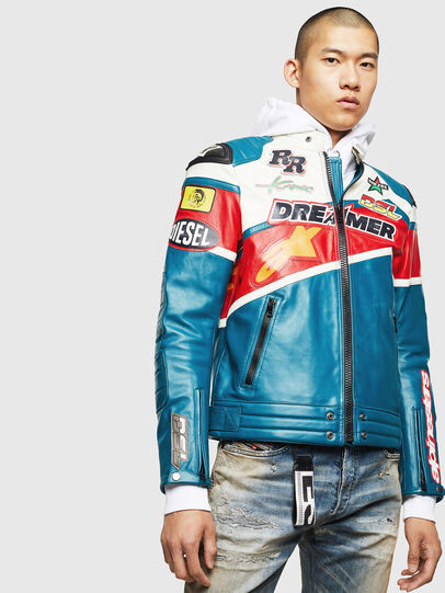 Diesel - ASTARS-LPATCH-1B,  - Leather jackets - Image 1