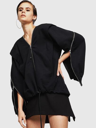 Diesel - F-HOSI, Black - Sweaters - Image 4