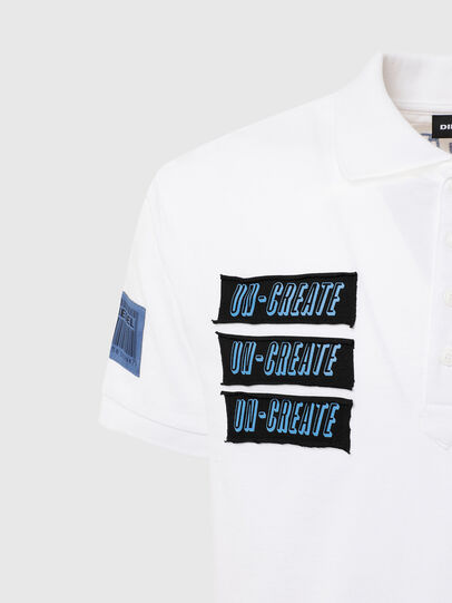Diesel - T-RALF-PATCH, White - Polos - Image 4