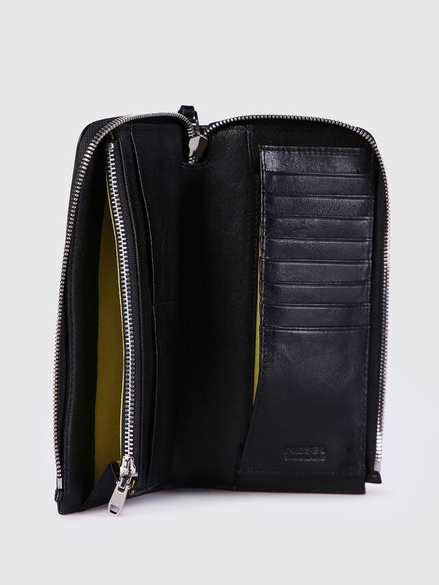 Diesel L-24ZIP, Black - Zip-Round Wallets - Image 3