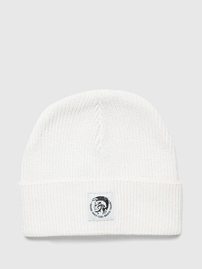 Diesel - K-CODER-F, White - Knit caps - Image 1